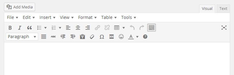 WordPress TinyMCE Advanced