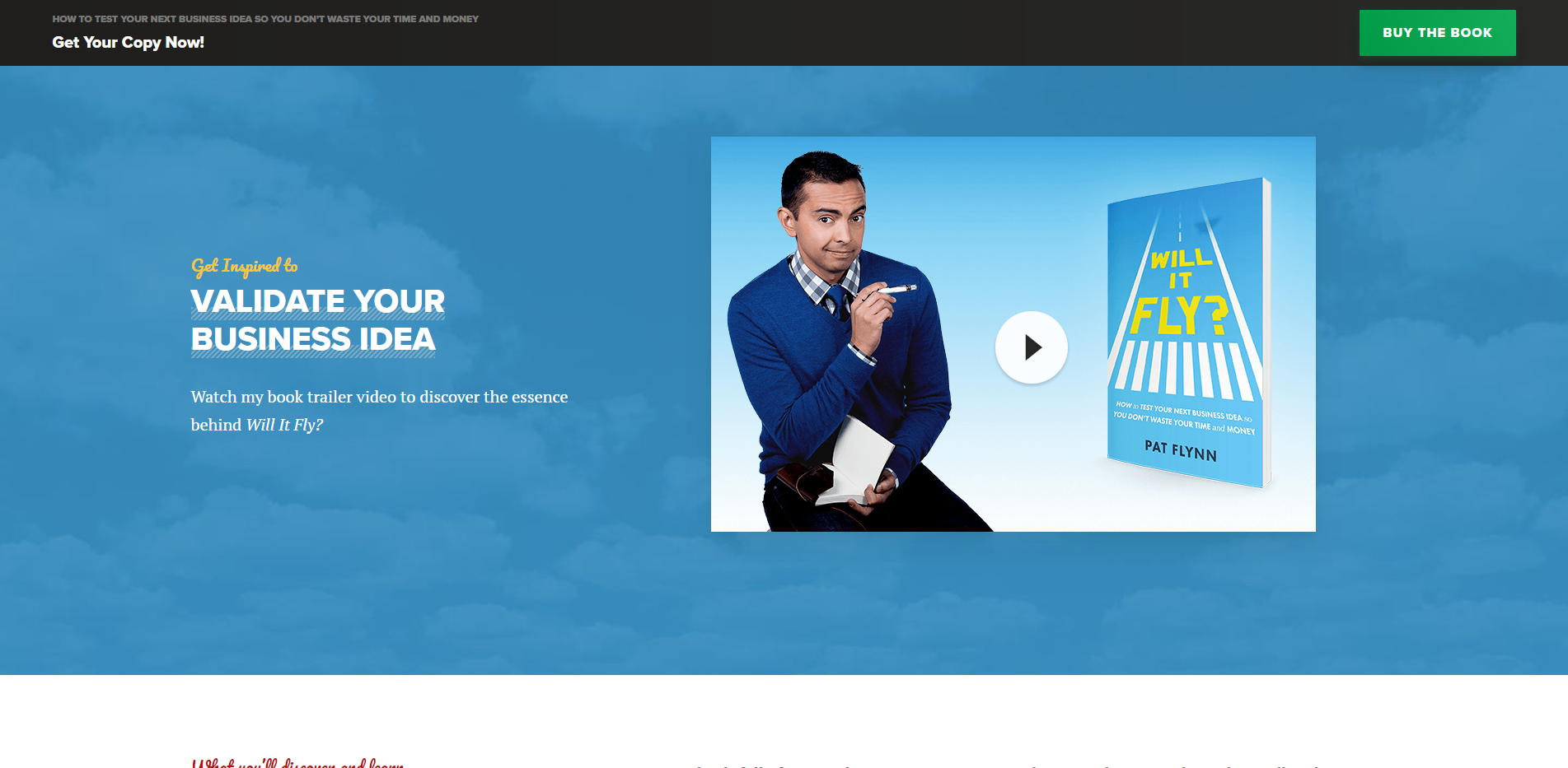 Will It Fly by Pat Flynn Ebook Landing Page