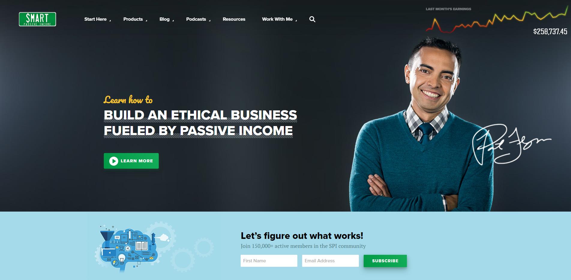 Smart Passive Income Home Page