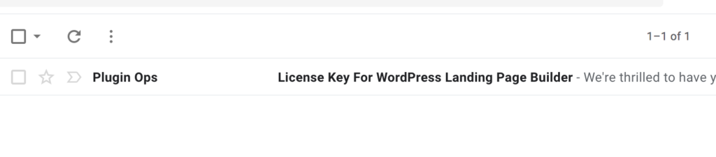License key email subject