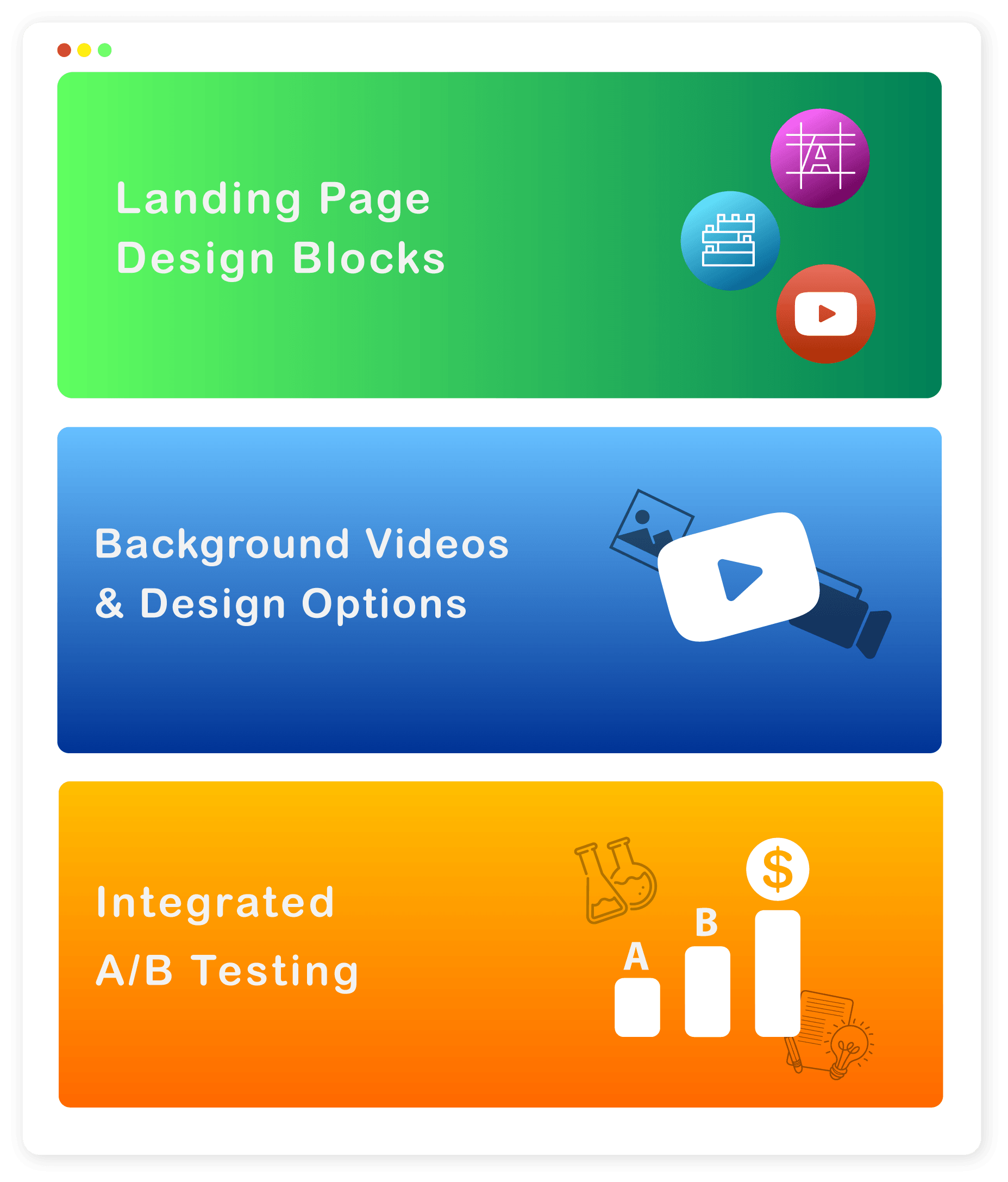 landing page features