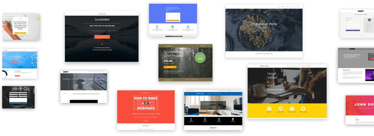 All landing page templates